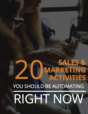 20 Sales and Marketing Activities Cover Page